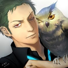 One Piece: Zoro and an Owl One Piece Manga, Sanji One Piece, One Piece 1, Roronoa Zoro, Zoro Nami, Anime Manga, Anime Guys, Anime Naruto, Zoro And Robin