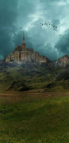 "mythopoetical: "" Mont Saint Michel, France. Photo via colla """