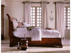 Shop for Henredon Sleigh Bed, 6/6 (King), 6201-12-93, and other Bedroom Beds at McCreerys Home Furnishings in Sacramento, Rancho Cordova and Roseville CA. Cavalier; a clean very sophisticated approach to Louis-Philippe, in bedroom designs defined by an elegance of line and decorative restraint.