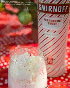 Move over mistletoe. Nothing brings people closer than Smirnoff Peppermint Twist this Holiday season. Treat your holiday bae to our delicious Peppermint Eggnog Cocktail.   Recipe: 1.5 oz Smirnoff Peppermint Twist, 3 oz eggnog and top it all off with crushed peppermint candy and whipped cream.