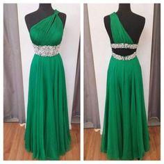 D21 high quality prom dress,chiffon prom dress,one-shoulder prom dress,a-line prom dress, charming prom dress