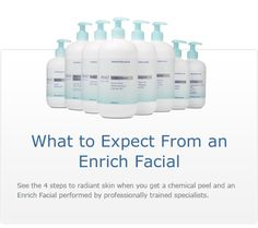 Improve your skin's complexion before and after a facial peel procedure with the Obagi Enrich Facial. #ObagiFacials