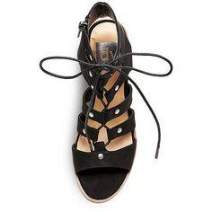 Women's dv Zoey Gladiator Sandals Stacked Heels - Black 8.5
