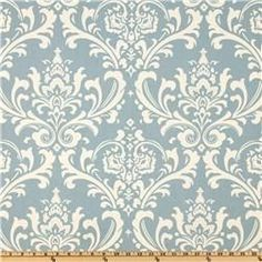 Ozborne Village Blue/Natural print from fabric.com. May use this for my drapes in the living room? $7.48 per yard