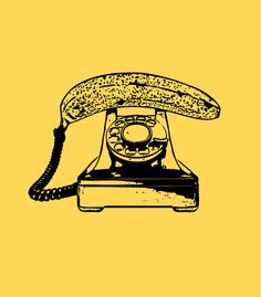 Banana phone! This is unfortunately a retired INK. Find more awesome tshirt designs at http://inktothepeople.com/marketplace
