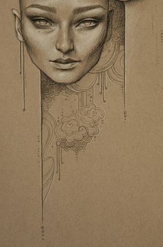 toned paper drawing
