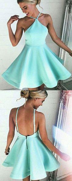 #short Halter homecoming dresses #simple homecoming dresses #sexy homecoming…
