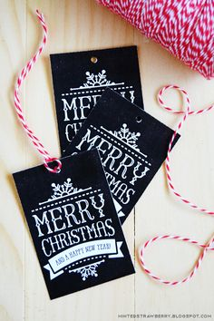 Free printable Christmas gift tags - available in chalkboard + foilable styles! No die-cutting machine needed.