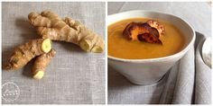 Muskatkürbis-Suppe mit Süßkartoffelchips  https://backstubenpoesie.wordpress.com/2015/10/09/kurbis-blogevent-und-muskatnusskurbis-suppe-mit-vollkorn-grissini/