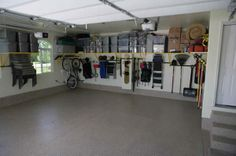 Garage Designs: Elegant Grey Garage Storage System Organization ...