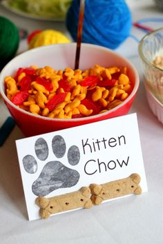 Puppy and Kitten Second Birthday Party - Ice Cream Off Paper Plates Cat Themed Parties, Puppy Birthday Parties, Puppy Party, Cat Birthday, Animal Birthday, Birthday Party Themes, Birthday Ideas, Dog Parties, Parties Food