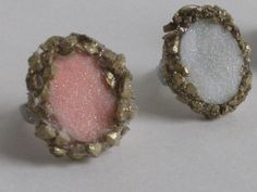 Large Druzy Cocktail rings by Laineybean on Etsy, $15.00