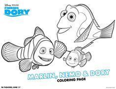 Dory Finding Nemo Coloring Pages free. Dory, the cute blue fish of the cute friend Nemo from Finding Nemo is now coming back through the latest Disney Pixar film, Finding Dory. This year, D.