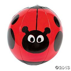 Inflatable Ladybug Character Beach Balls  These would be fun to throw around during awards.