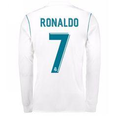 f49cb180ea0 Real Madrid Home Shirt 2017 18 Long Sleeve with Ronaldo 7 printing Online  Shopping