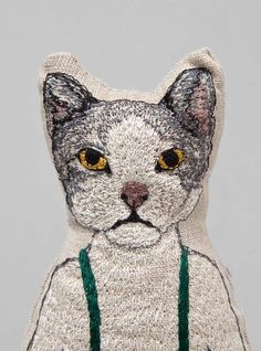 Embroidered Cat Pocket Doll by Coral And Tusk at Couverture and The Garbstore.
