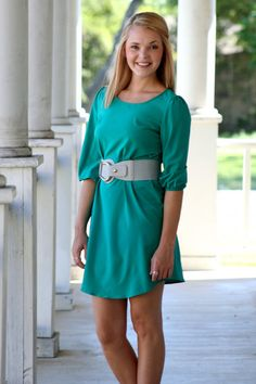 http://hazelandolive.com/collections/frontpage/products/jade-3-4-sleeve-shift-dress