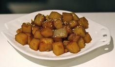 Vegan Gluten Free, Vegan Vegetarian, Japanese Teriyaki, Korean Sweet Potato, Potato Side Dishes, Korean Food, Baking Recipes, Nom Nom, Potatoes