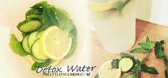 Detox Water: Lemon, Cucumber & Mint