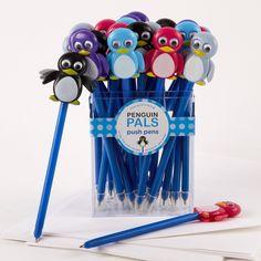 35 Pc Penguin Pen Unit Asst 5 Colors © Twos Company