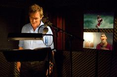 "Hugh Laurie running his lines for ""Arthur Christmas"" (2011)"