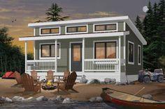 Cottage Plan: 793 Square Feet, 1-2 Bedrooms, 1 Bathroom - 286-00090 Cottage Style House Plans, Cottage House Plans, Small House Plans, Cottage Homes, House Floor Plans, Coastal Cottage, Cabin Plans, Shed Plans, Simple Porch Designs