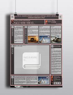 scientific poster template powerpoint.modèle poster scientifique powerpoint.