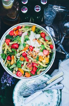 Ready for summer? These three salad recipes are vegetarian and crazy healthy. There's even a fruit salad recipe for dessert.