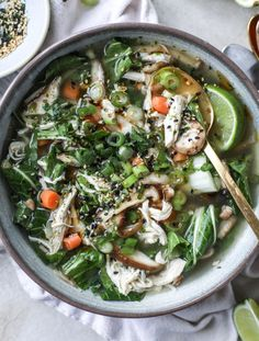 asian chicken soup I howsweeteats.com