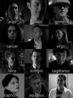 Sherlock horoscopes I just want to point out that Irene is a capricorn too :) favourite literary character ever.
