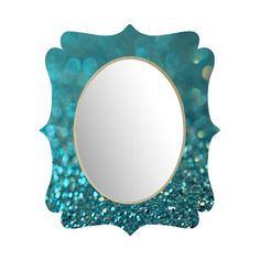 Quatrefoil-shaped wall mirror with a glitter-inspired motif by Lisa Argyropoulos for DENY Designs. Handmade in the USA.   Product: