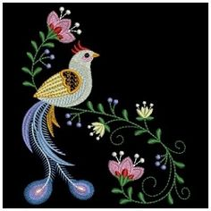 Decorative Birds 3 - 3 Sizes! | What's New | Machine Embroidery Designs | SWAKembroidery.com Ace Points Embroidery