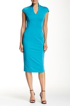 Alexia Admor - Military Neck Midi Dress at Nordstrom Rack. Free Shipping on orders over $100.