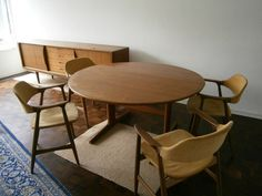 G Plan Danish Drop Leaf Dining Table And 4 Chairs