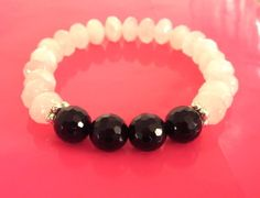 Heart & Protections Stack Solo - Rose Quartz and Black Onyx $80