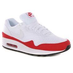 Nike Air Max 1 Em Shoes - White-White-University Red