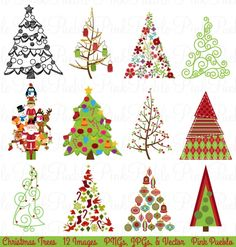 Christmas Tree Clipart and Vectors