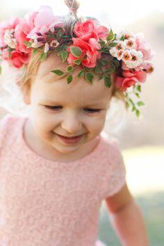 Baby flower crown headband Girl flower crown by FlowersLovers Baby Flower  Crown 743270b19ad