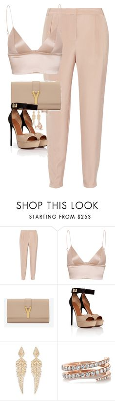 """""""Untitled #1173"""" by lovetaytay ❤ liked on Polyvore featuring TIBI, T By Alexander Wang, Yves Saint Laurent, Givenchy, Stephen Webster, Anita Ko and Carbon & Hyde"""