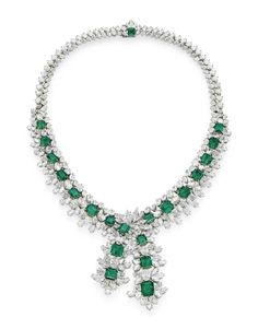 an_emerald_and_diamond_necklace_d5990678g.jpg (802×1024)