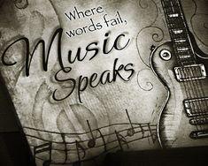 Where words fail music speaks. Love this