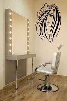 Wall Decor Vinyl Sticker Room Decal Fashion Hair Salon Sign Sexy Hair Girl #1326 #3M