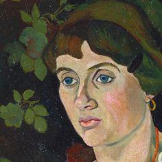 Portrait of ''  Marie Coca and her Daughter '' 1913  Paris , oil on canvas ,130 x 161 cm  by Suzanne Valadon. Location : Musée des Beaux-Arts, Lyon, France ( detail ).