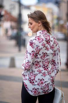 Koszula w kwiaty w stylizacji na wiosnę | Floral shirt, spring styling - Annastylefashion Spring, Blog, Blogging