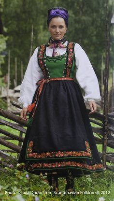 Hello all, This is the second part of my overview of the costumes of Norway. This will cover the central row of provinces in Eastern N. Norwegian Clothing, Summer Outfits Women, Summer Dresses, Scandinavian Fashion, Folk Costume, Ethnic Fashion, Women's Fashion, Traditional Dresses, Norway