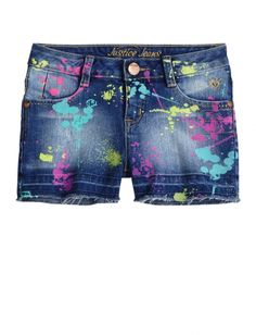 Allover Paint Splatter Denim Shorts | Girls Shorts Clothes | Shop Justice