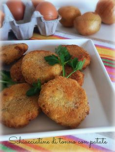 Schiacciatine di tonno con patate