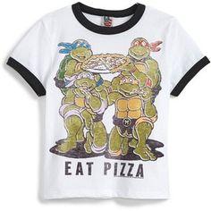 Junk Food 'Teenage Mutant Ninja Turtles Eat Pizza' Graphic T-Shirt (Little Boys Big Boys)