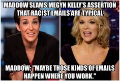 """""""Maddow Slams Megyn Kelly's Assertion That Racist Emails Are Typical (video): http://t.co/FNv2kSSWNG  #p2 #tcot"""""""