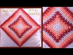 Crochet para almohadones cobijas para bebes punto degradé de colores en 3D tejido tallermanualperu - YouTube Crochet Square Patterns, Knitting Patterns, Crochet Tote, Knit Crochet, Chicken Cross Stitch, Mosaic, Blanket, Creative, Arts And Crafts